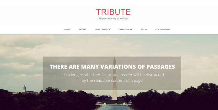 Tribute Free Wordpress Theme