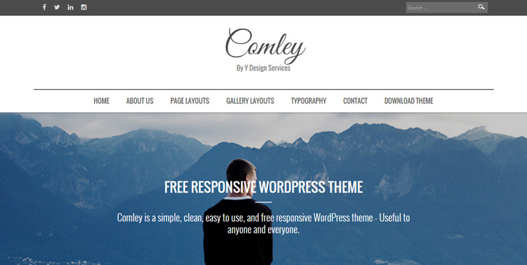 comley free wordpress theme