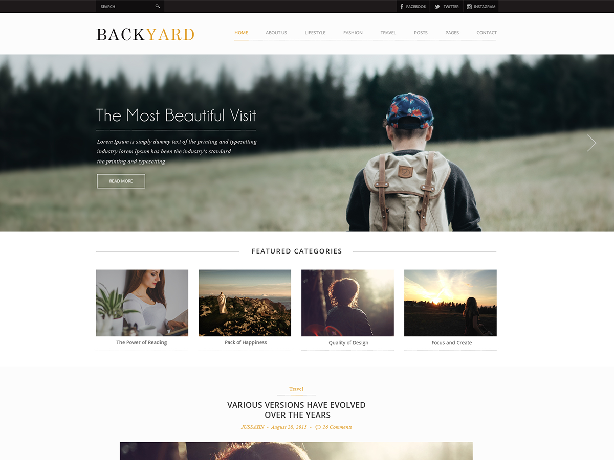 backyard free wordpress theme