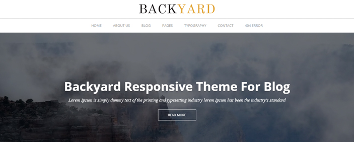Backyard Free and Premium WordPress Theme